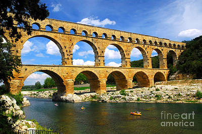 Sight Photograph - Pont Du Gard In Southern France by Elena Elisseeva