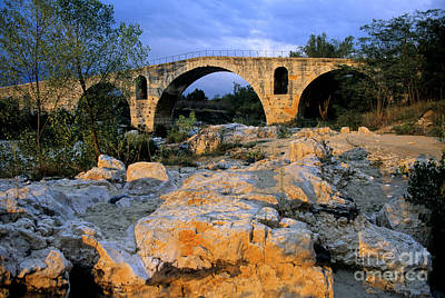 Pont Julien. Luberon. Provence. France. Europe Print by Bernard Jaubert
