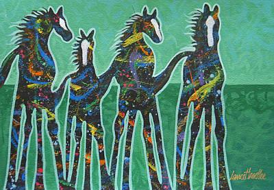 Pony Pastures Print by Lance Headlee