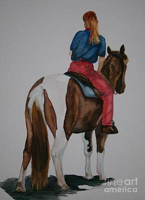 Pinto Painting - Pony Tails by Susan Herber