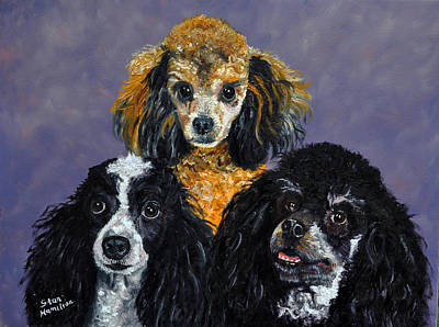 Cocker Spaniel Painting - Poodles by Stan Hamilton