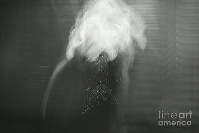 Surrealist Photograph - Poof - Bw by Aimelle