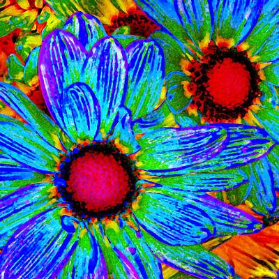 Pop Art Daisies 2 Print by Amy Vangsgard