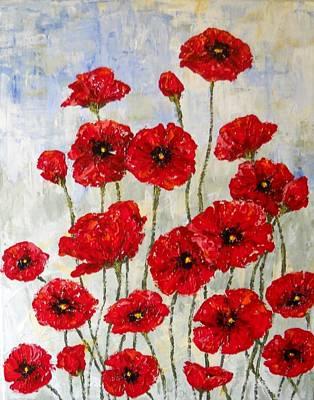 Maryann Painting - Poppie Field by MaryAnn Ceballos