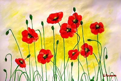 Poppies Print by Sonya Ragyovska