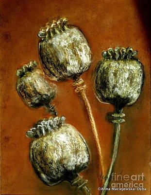 Folkartanna Painting - Poppy Seed Heads by Anna Folkartanna Maciejewska-Dyba