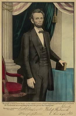 Popular Print Of President Abraham Print by Everett
