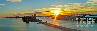Port Of Miami Panorma At Sundown Original by Dejan Jovanovic