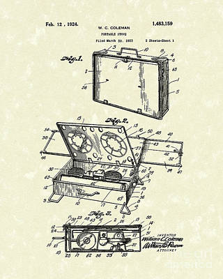 Portable Stove 1924 Patent Art Print by Prior Art Design