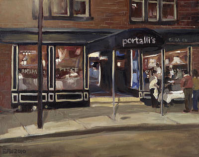 Edward Williams Painting - Portall's At Night by Edward Williams