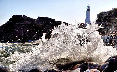 Maine Photograph - Portland H2o by Emily Stauring