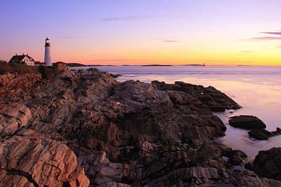 Portland Head Lighthouse Seascape Print by Roupen  Baker