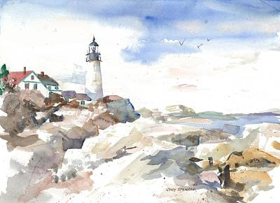 Portland Headlight Original by Cindy Spencer
