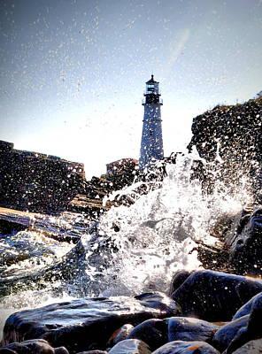 Maine Photograph - Portland Under Splash by Emily Stauring