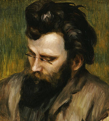 Looking Down Painting - Portrait De Claude Terrasse French Composer Of Operettas by Pierre Auguste Renoir