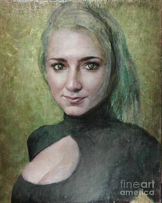 Bucci Painting - Portrait In Progress Wip by Jane Bucci