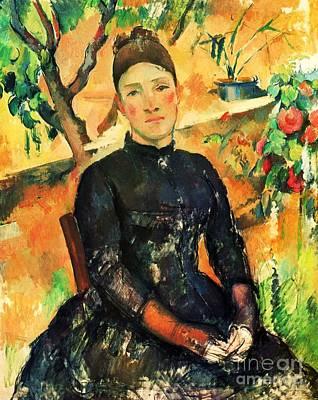 Portrait Madame Cezanne Print by Pg Reproductions