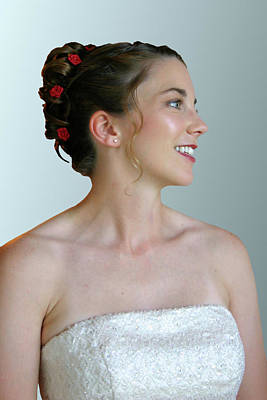 Portrait Of A Bride Print by Kristin Elmquist