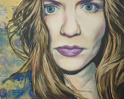 Portrait Of A Wallflower Print by Tyler Auman
