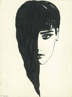 Portrait Of A Woman  Print by Valeria Jye