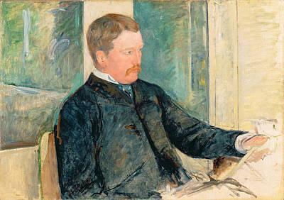 Cassatt Painting - Portrait Of Alexander J. Cassatt by Mary Stevenson Cassatt