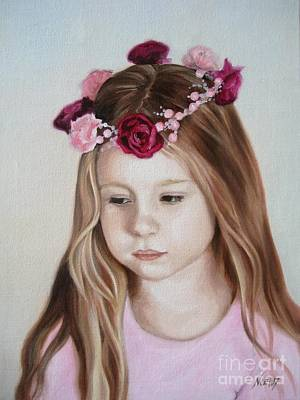 Wreath Painting - Portrait Of Kristinka by Jindra Noewi
