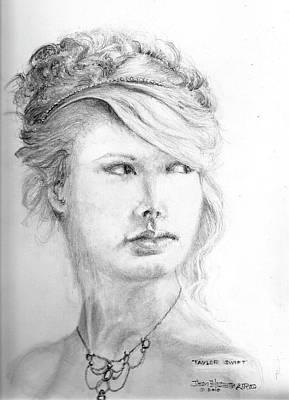 Taylor Swift Drawing - Portrait-taylor Swift by Jim Hubbard