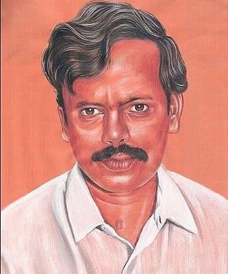 Venkat Hyderabad Painting - Portrait by Venkat Meruvu