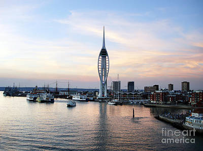Portsmouth Waterfront Print by Jane Rix