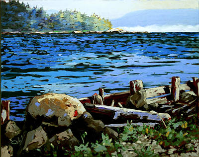 An Island Painting - Possession Point 2011 Nfs by Rob Owen