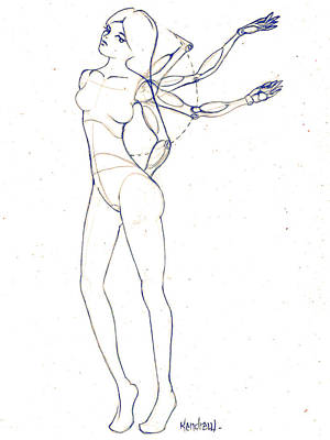 Playboy Drawing - Possibly by Kendrew Black
