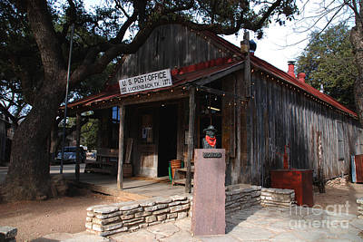 Luckenbach Photograph - Post Office In Luckenbach Texas by Susanne Van Hulst