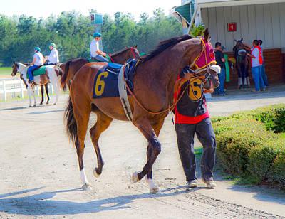 Jockey Photograph - Post-time Parade by Betsy C Knapp