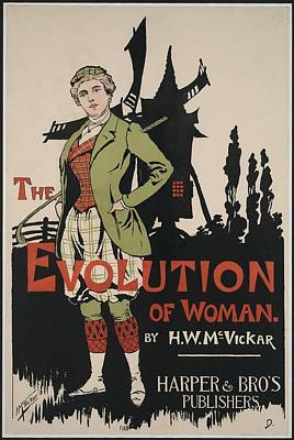 Poster Advertising The Evolution Of Print by Everett