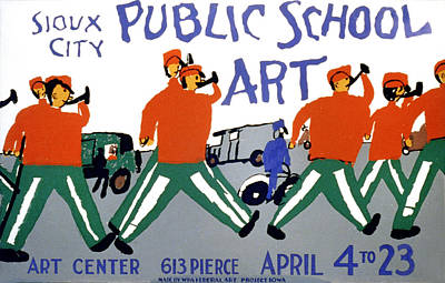Marching Band Photograph - Poster For Public School Art, Sioux by Everett