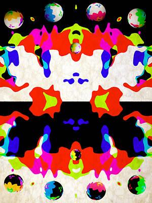 Rgb Digital Art - Postive And Negative Space by Angelina Vick