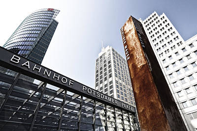 Distortion Photograph - Potsdamer Platz Berlin by Melanie Viola