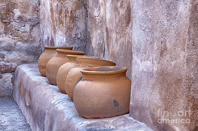 Pottery Of The Past Print by Sandra Bronstein