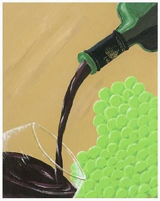 Pour A Glass Original by Starla Rodriguez