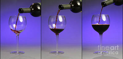 Pouring Wine Print by Photo Researchers, Inc.