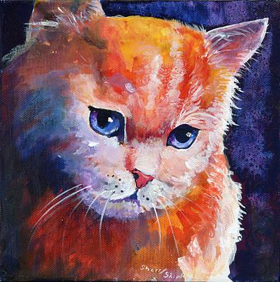 Pouting Kitty Print by Sherry Shipley