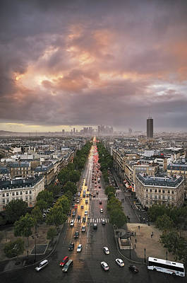 Pov From Arch Of Triumph Print by © Yannick Lefevre - Photography
