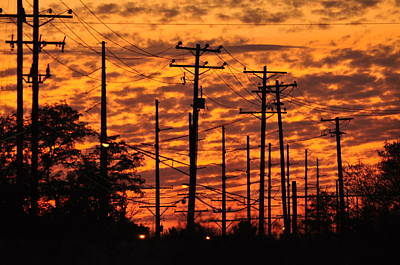 Telephone Poles Photograph - Power Lines 2 by Peter  McIntosh