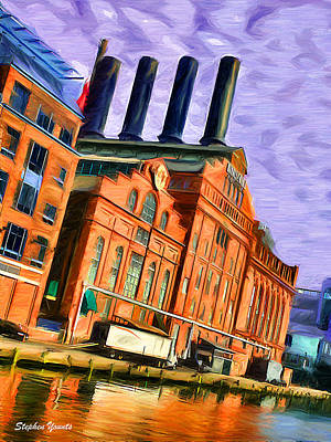 Oriole Digital Art - Power Plant by Stephen Younts