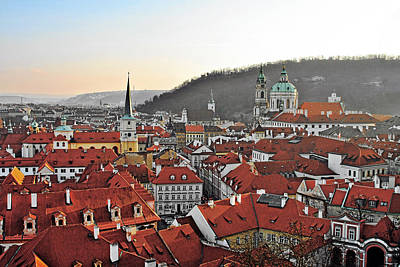 Historic Buildings Photograph - Prague - A Story Told By Rooftops by Christine Till