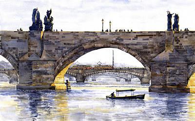 Prague Bridges Print by Yuriy  Shevchuk