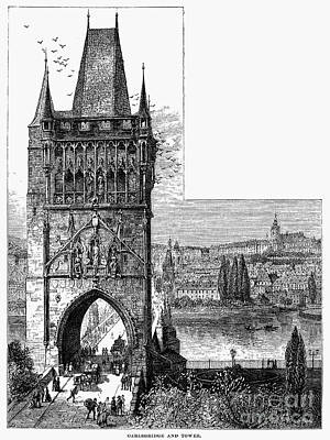 Prague: Carlsbridge Print by Granger