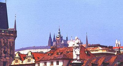Prague Digital Art - Prague Castle by Steve Huang