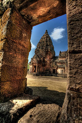 Tourist Attraction Digital Art - Prasat Phnom Rung by Adrian Evans