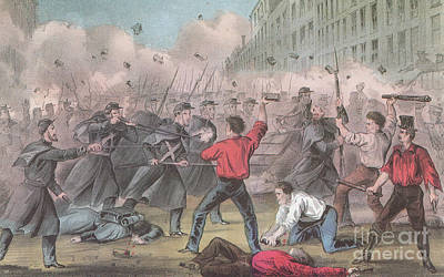 Pratt Street Riot, 1861 Print by Photo Researchers